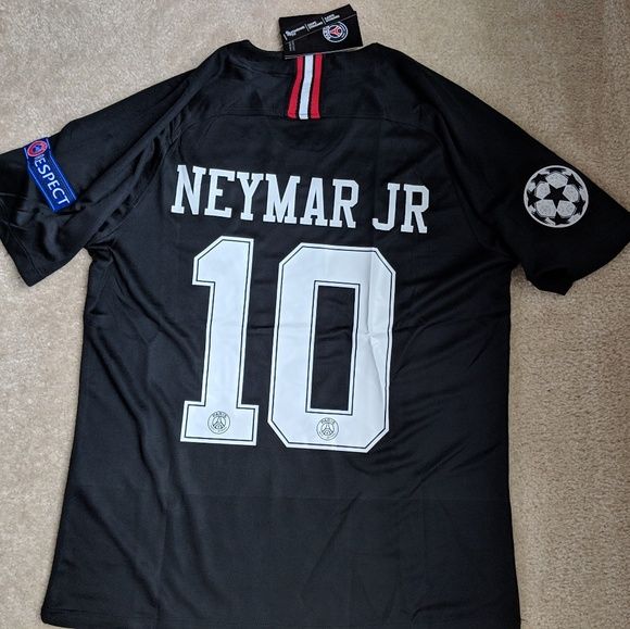 uk availability 5a033 34bc2 PSG Black Neymar Jr. Jersey Size Small NWT